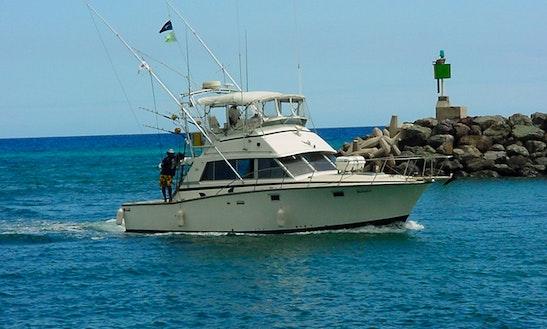 Motor yacht in waikiki chris craft constellation getmyboat for Fishing supplies honolulu