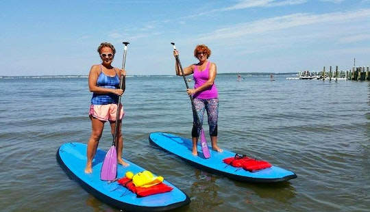 Stand Up Paddleboard Yoga In Ocean City, Maryland