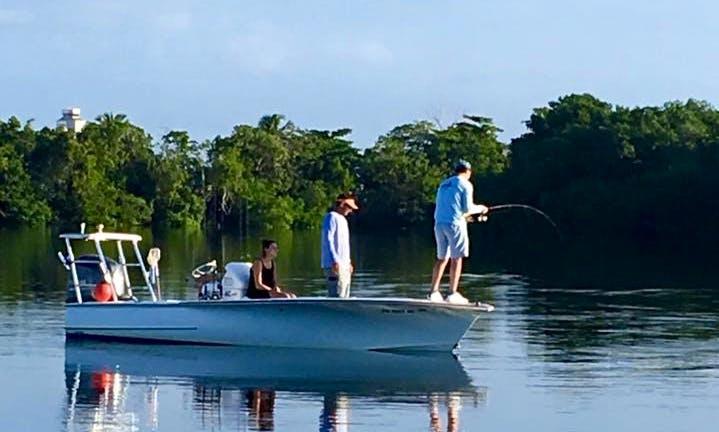 "Tarpon Fishing Charter On 20ft ""Free Spool"" Center Console In Carolina, Puerto Rico"