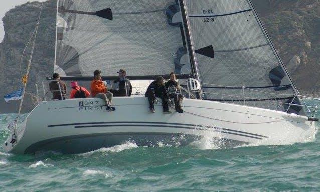 Beneteau First 34.7 (first 10R) - Cruising / Racing Monohull rental in Palamós - Boat name: Enjòlit