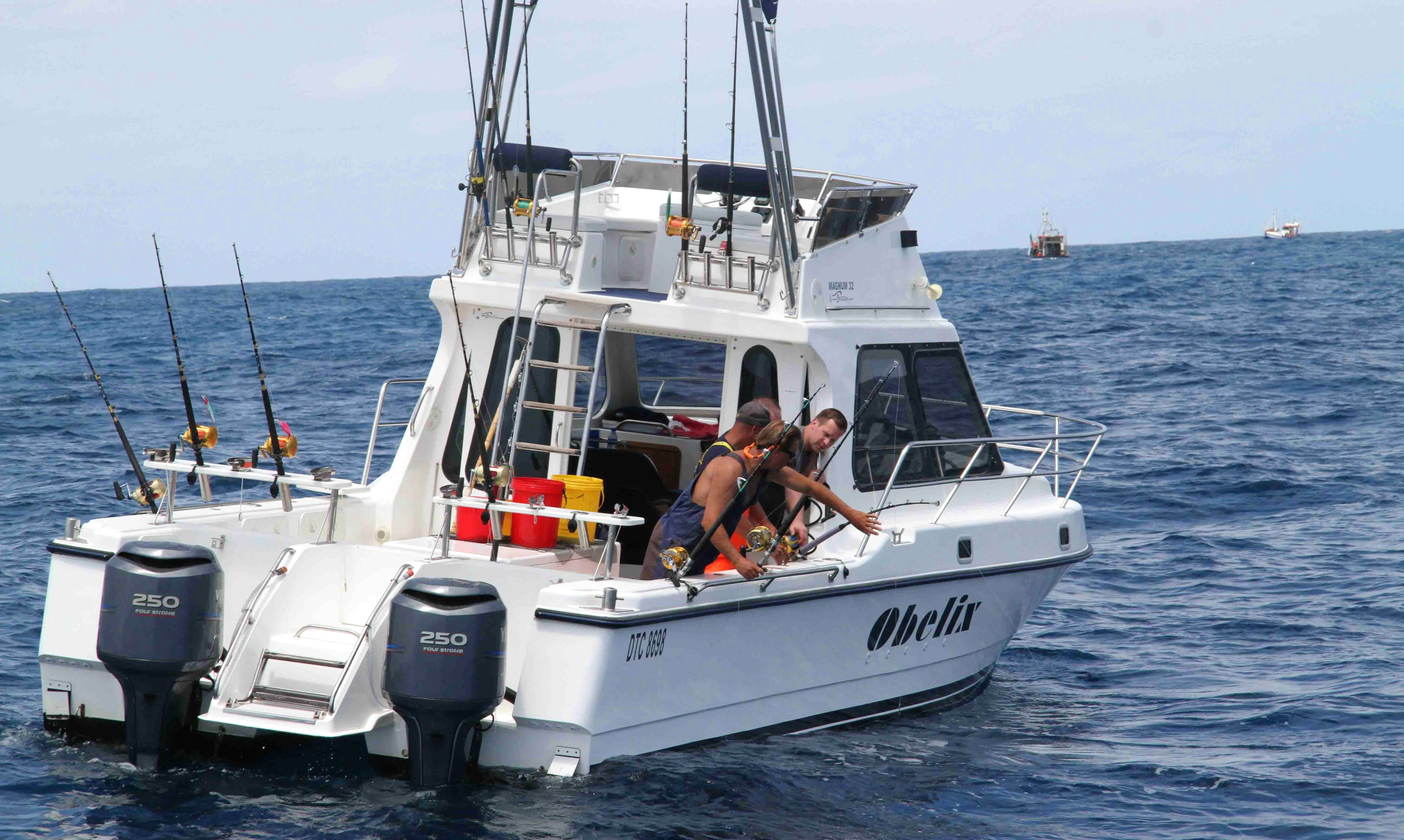32' Cuddy Cabin Fishing Charter for 8 People in Cape Town, South Africa