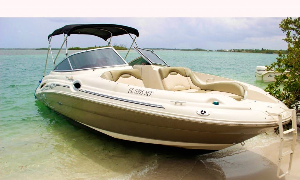 Charter On 27ft Sea Ray Sundeck Yacht In West Palm Beach, Florida