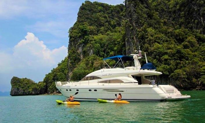 20-Person Princess 65 Motor Yacht Charter in Phuket, Thailand