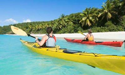 Explore Cruz Bay, U.S. Virgin Islands with a Solo Sea Kayak