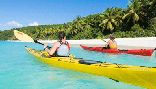 Explore Cruz Bay, U.s. Virgin Islands With A Solo Sea Kayak