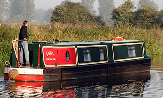 Charter 57' Canal Boat In England, United Kingdom
