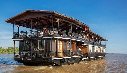 Enjoy Mekong River Cruises In Hanoi, Vietnam On 112' Houseboat