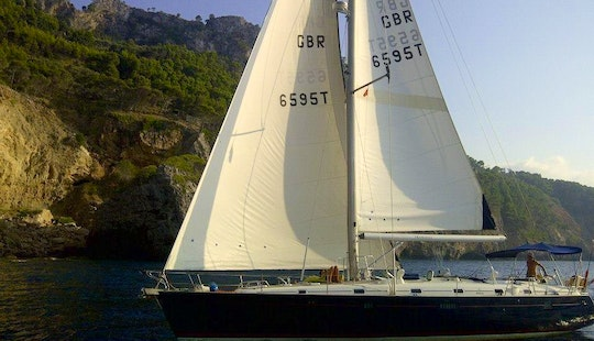 Fantastic Sailing Day In Mallorca, Spain With This Beneteau Sailboat