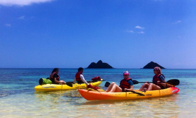 Kayak Guided Tours in Kailua, Hawaii