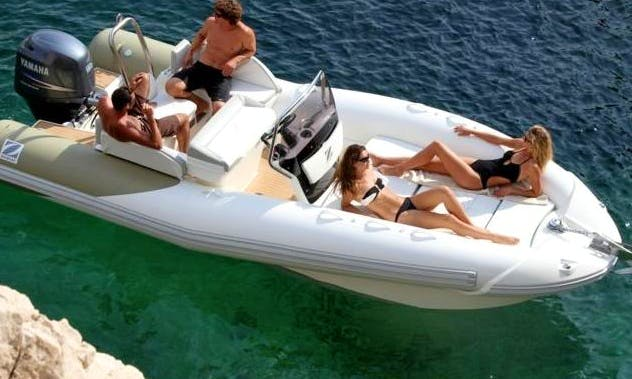 21' Zodiac Z-NO 600 RIB Rental in Palma, Spain