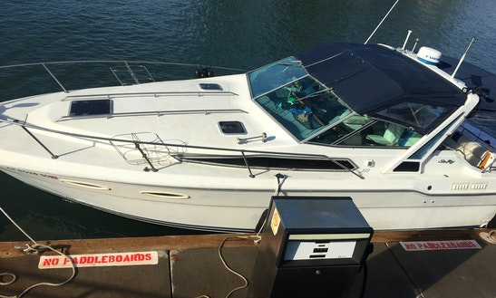 30ft motor yacht fishing charter with captain jimmy in san for Motor boat rental san francisco