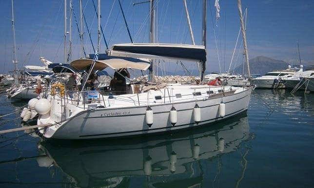 Charter 44' Beneteau Cyclades Cruising Monohull in Corfu, Greece