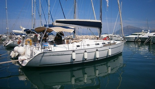 Charter 44' Beneteau Cyclades Cruising Monohull In Corfu, Greece