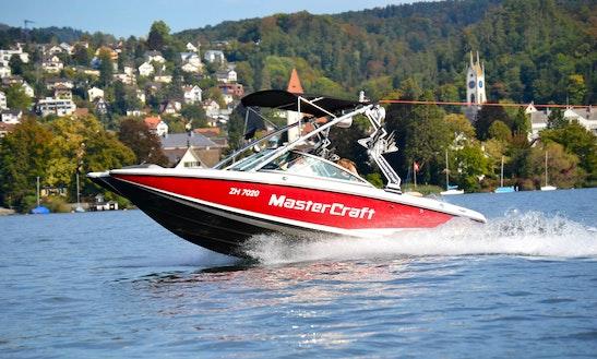 Rent Mastercraft X2 Powerboat For Wakeboarding And Wakesurfing Or Cruising On Lake Zuerich - Switzerland