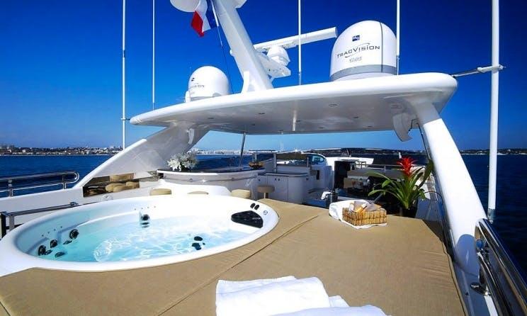 Crewed Charter on Horizon 97 Power Mega Yacht in Marbella, Spain