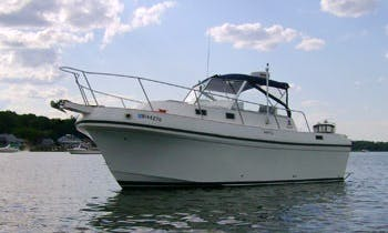 "26ft ""Albin Express"" Cuddy Cabin/Walk Around Boat Rental in Bristol, Rhode Island"