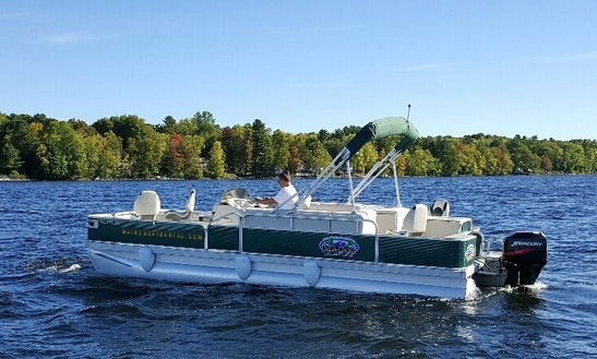 19ft bayliner element xl deck boat rental in china maine for Fishing boat rentals near me
