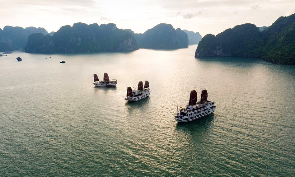 Halong Bay Private Overnight Boat cruise
