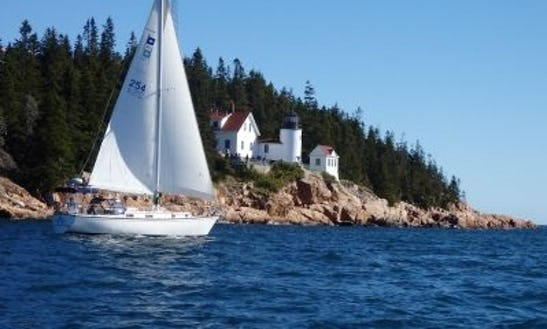 37ft The Motu Iti Pearson Cruising Sloop Boat Charter In Tremont, Maine