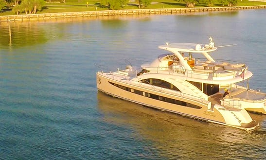 62' Power Catamaran Rental In Miami Beach