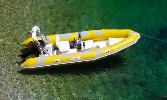 Rent The 19' Semirigid Inflatable (2017) Tarpon 590 Lx + 90 Hp Evinrude E-tec In Platja D'aro, (costa Brava - Spain)