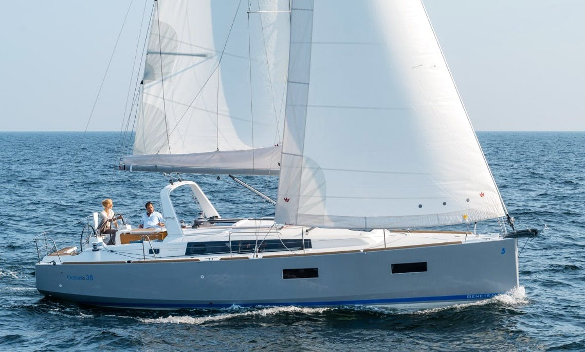 Rent the 38' Beneteau Oceanis Sailing Yacht in Port Ginesta, Barcelona