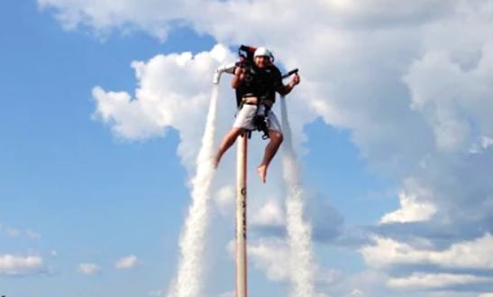 Enjoy Flyboarding In Higgins Lake Michigan