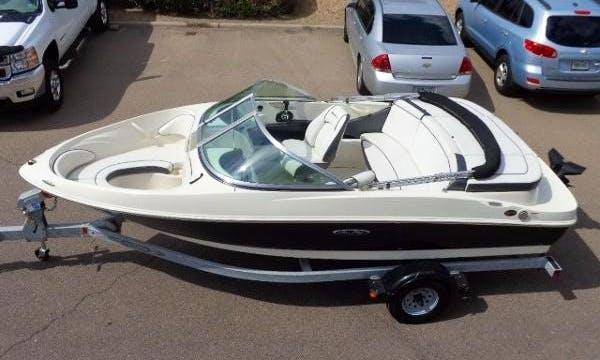 "17ft ""D'Louise"" Sea Ray 175 Sport Bowrider Rental on Lake Granby, Colorado"