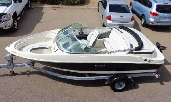 "17ft ""D'Louise"" Sea Ray 175 Sport Bowrider Rental on Lake Granby, Colorado"