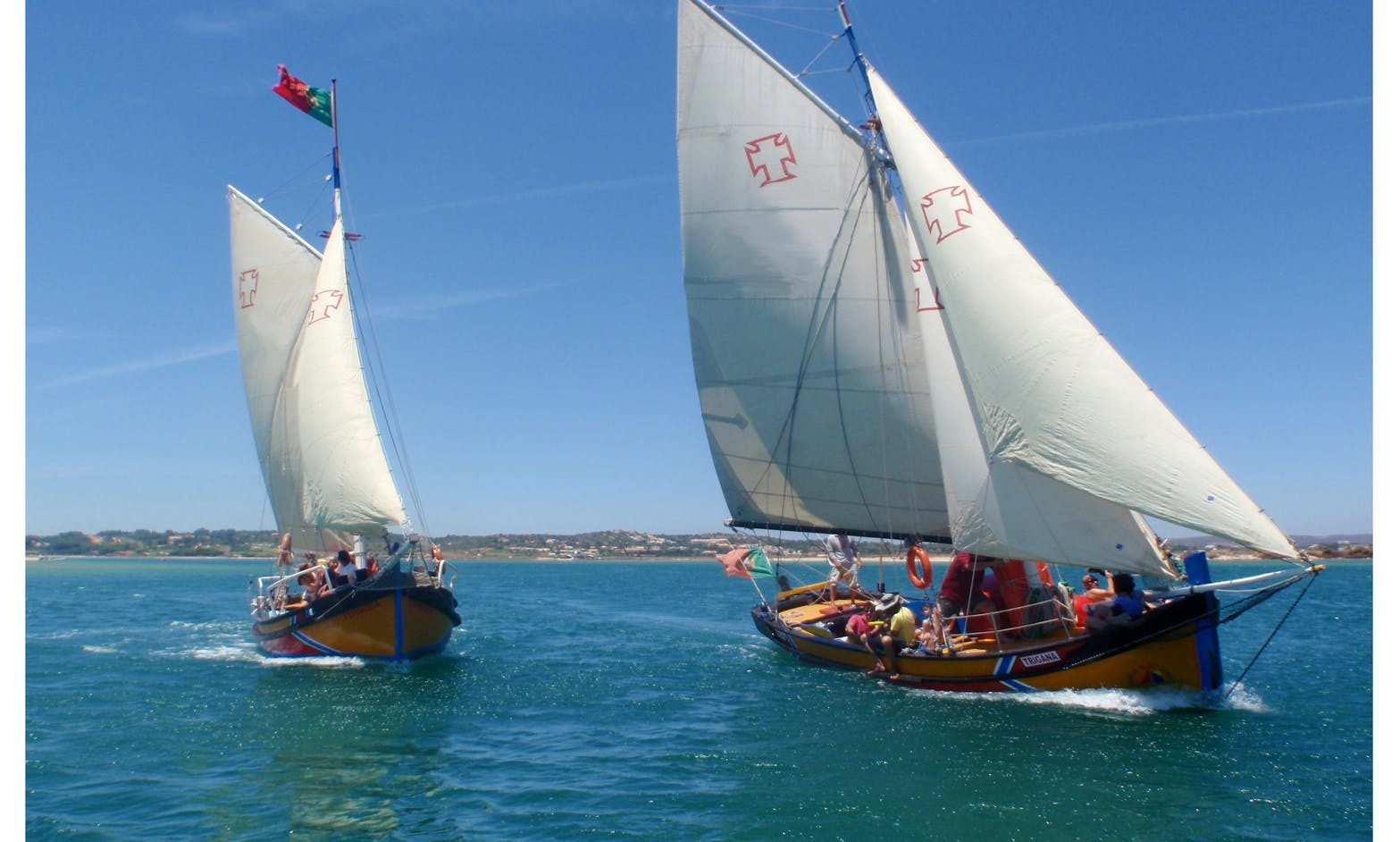 """Boat Trips On """"Trigana"""" Traditional Wooden Sailing Yacht in Alvor, Portugal"""