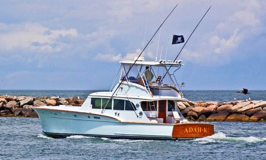 46ft the jenglo sportfisherman boat charter in orient for Fishing boats nyc