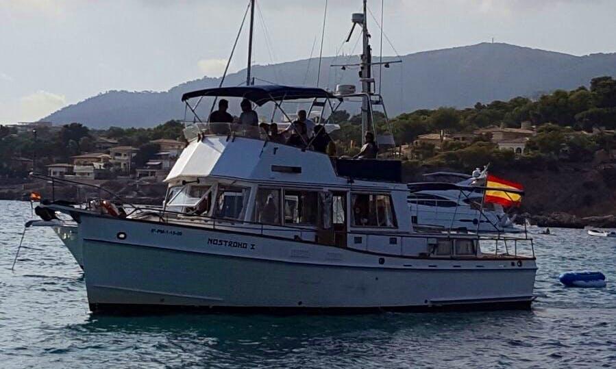 """Charter the 42ft """"Nostromo I"""" Grand Banks Yacht in Palma de Mallorca"""