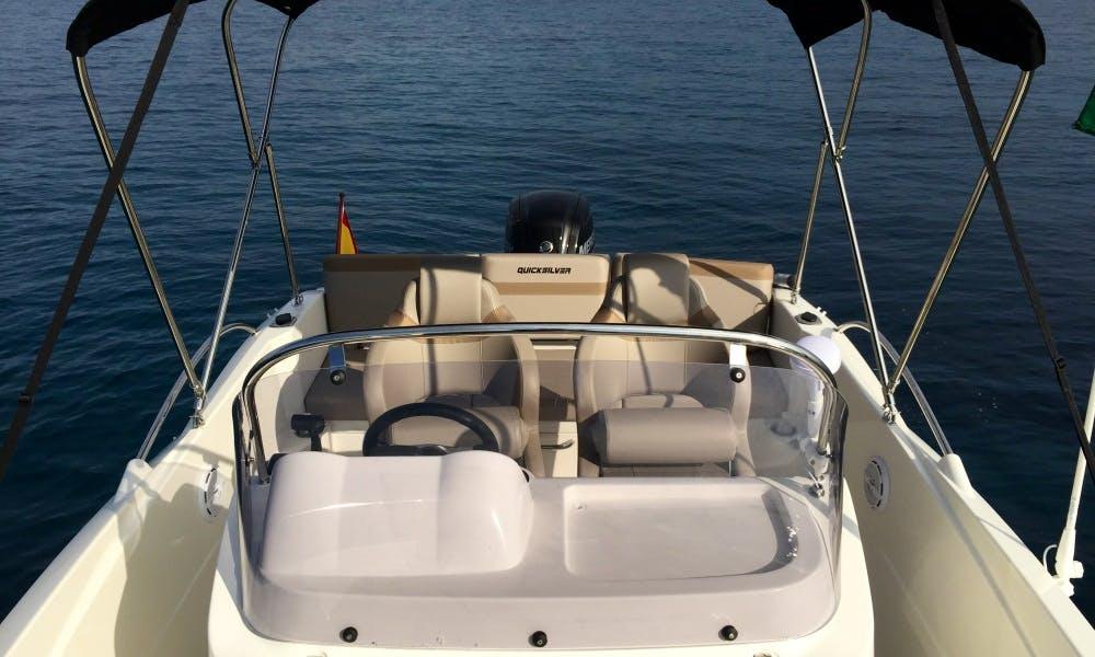 Quicksilver 605 for rent in Alicante