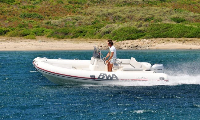Rent 18' Rigid Inflatable Boat in Sardegna, Italy