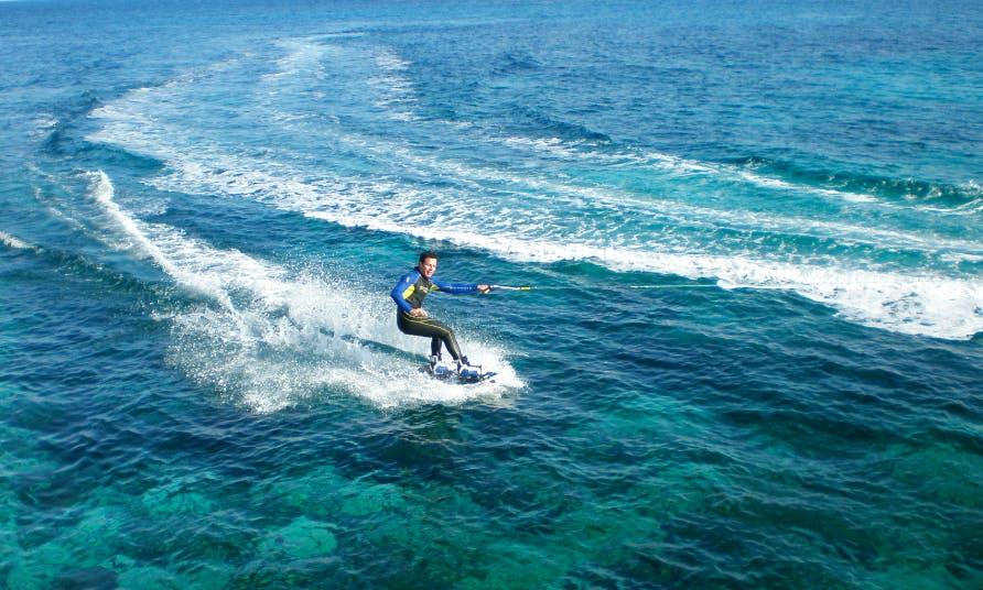 Wakeboarding at Hondoq Bay, Malta