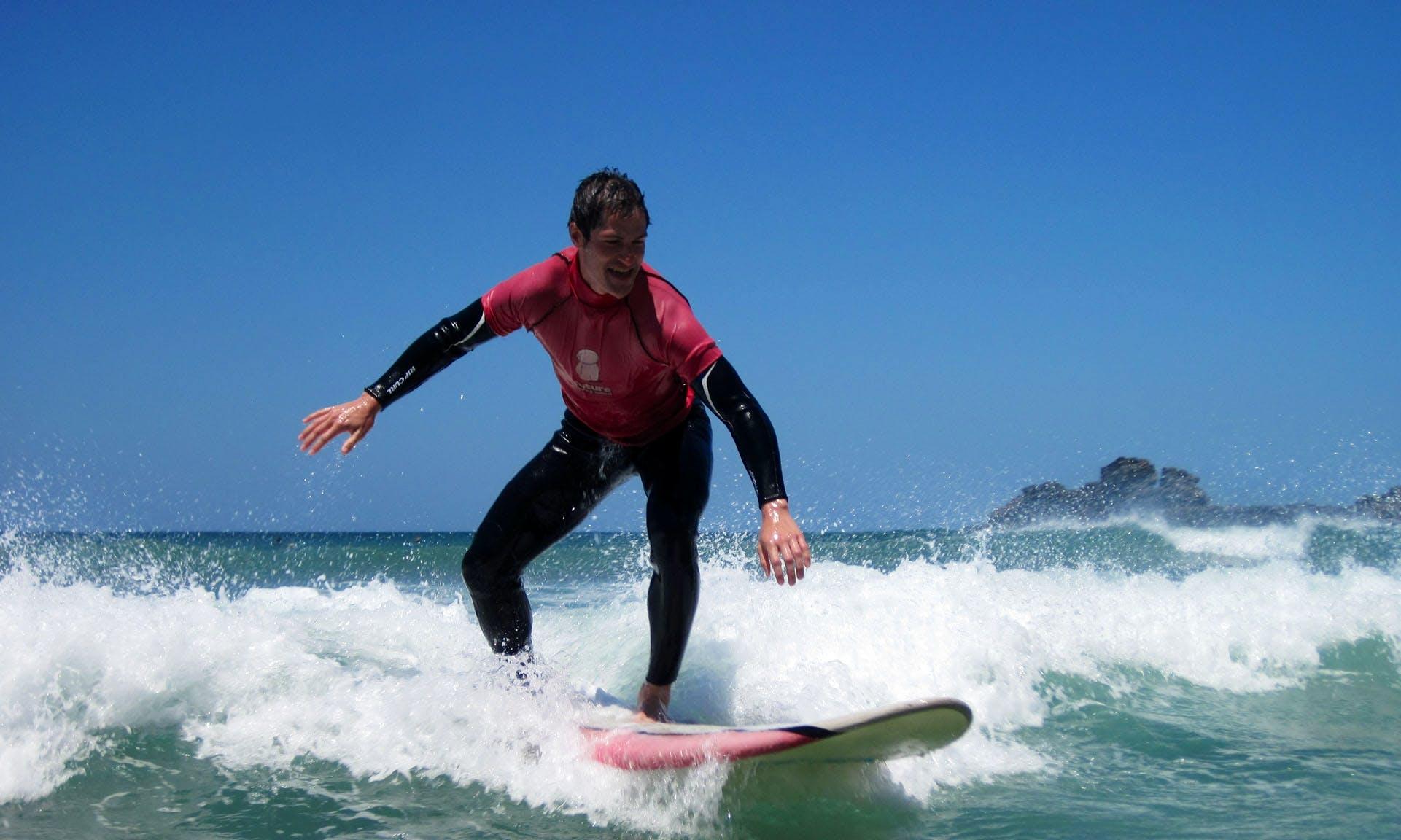 Surf Lessons on the Algarve Coast, Portugal