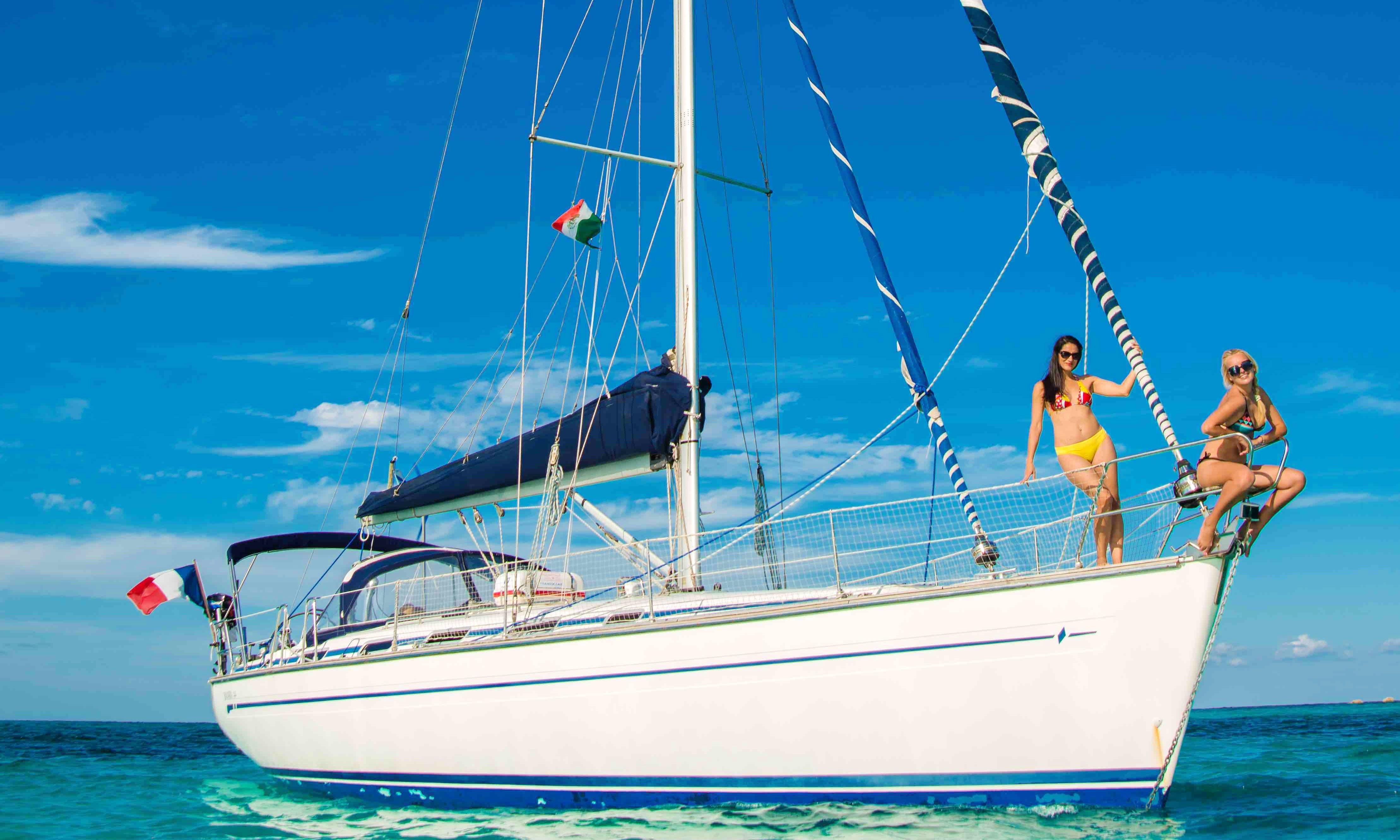 """Private Sailing Tour On 44ft """"Isela"""" Bavaria Sailboat In Quintana Roo, Mexico"""