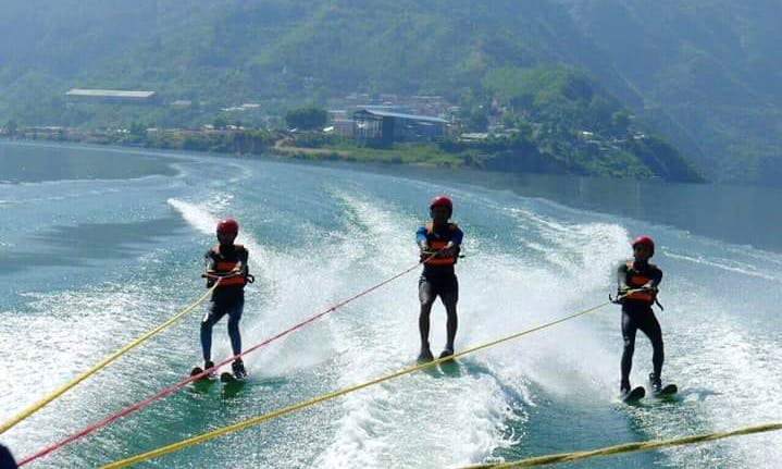 Waterskiing in Rishikesh, Uttarakhand