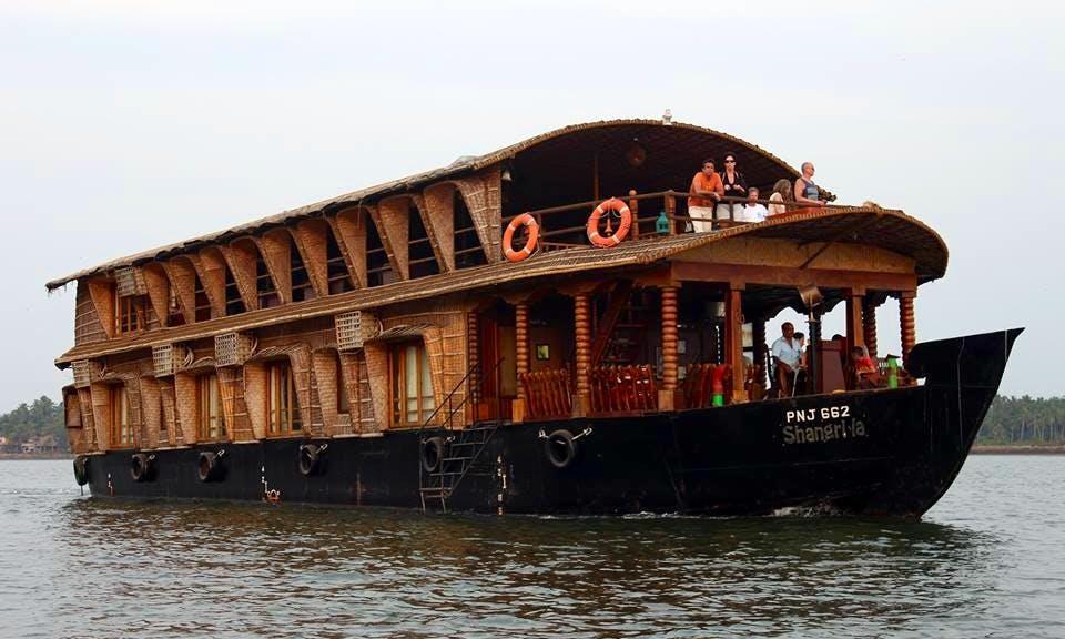 Charter Shangri-la Houseboat in Siolim, Goa