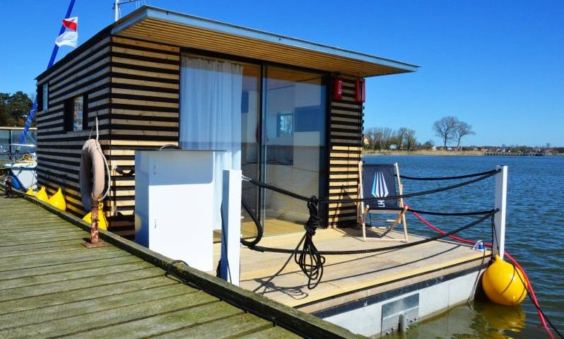 Stay On Houseboat HT8 with Floating Terrace in Mielno, Poland