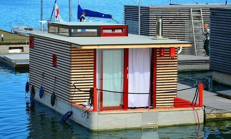 Sleep On HT9 Houseboat in Mielno, Poland
