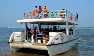 Excellent Day Out On The Power Catamaran In Goa India