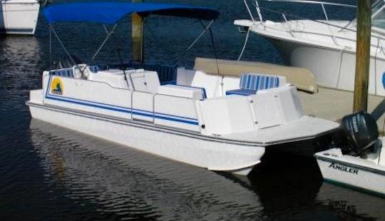 Ride The 23' Deck Boat In Fernandina Beach, Florida