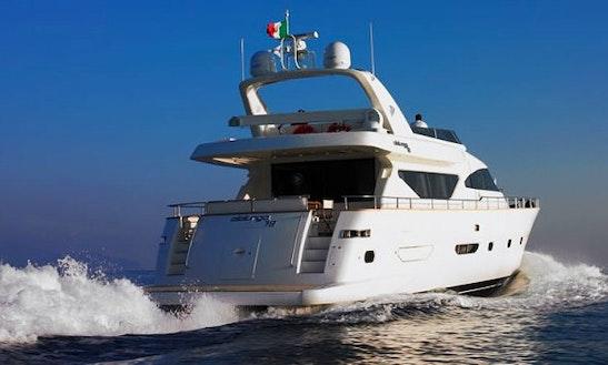 Charter 79' Power Mega Yacht In Campania, Italy