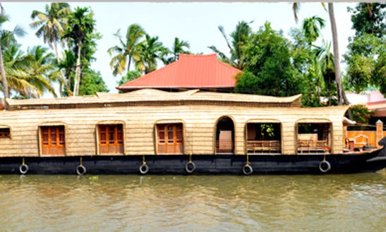 Enjoy The Most Unique Houseboating Vacation In Kerala, India For 4 Pax