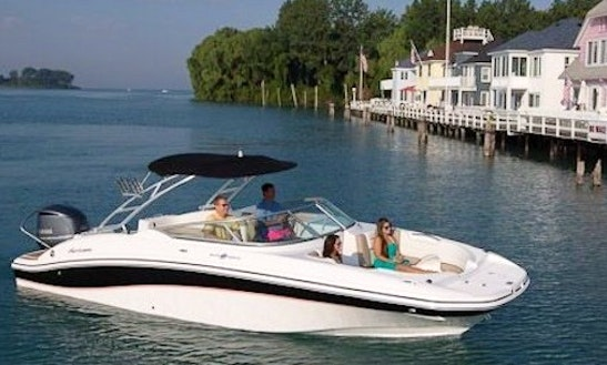 26' Hurricane Deck Boat Rental In Cape Coral, Florida