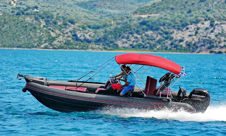 Rent 21' Viper Bullet RIB with a mercury 150hp 3000ccIn Nikiana Lefkada  Greece