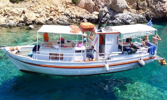 Charter 36' Passenger Boat In Paros, Greece