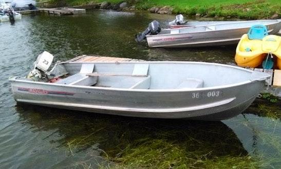 14' Aluminum Boat Rental In Ennismore, Ontario