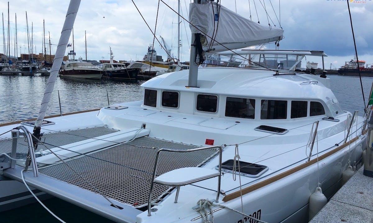 "Charter the 38ft ""Eolo"" Lagoon S2 Sailing Catamaran from Tropea, Italy"
